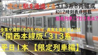 【関西本線313系8両編成】関西本線 八田 駅を通過する313系電車。。。なんと8両編成でした!