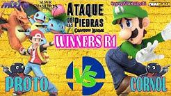 Proto (Pokemon Trainer) vs Cornol (Luigi) WR1 Ataque de las Piedras #1