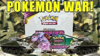 POKEMON UNIFIED MINDS BOOSTER BOX WAR!! Opening an Unified Minds Booster Box of Pokemon Cards