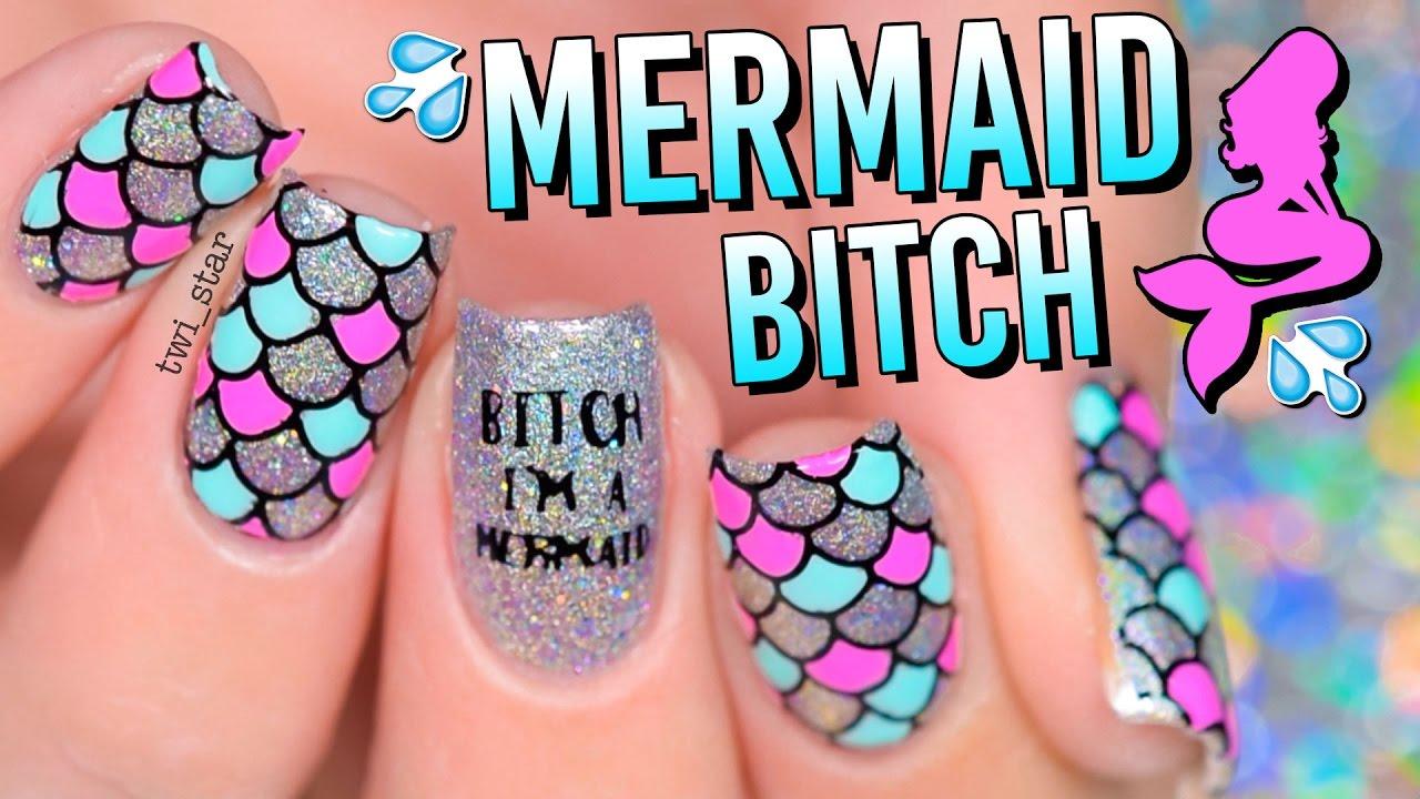 I M A Holo Mermaid Unicorn 2 For 1 Nail Art