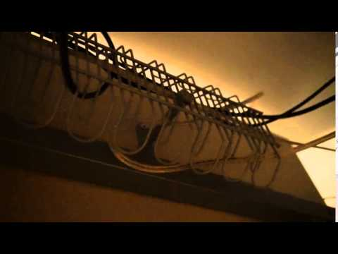 Close-up of Ikea SIGNUM Cable Management Rack - YouTube