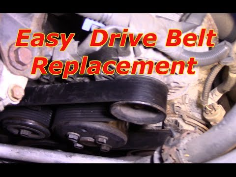 How to replace the serpentine drive belt Toyota Camry
