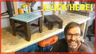 How to Make a Stool. Recycled Wood Project.