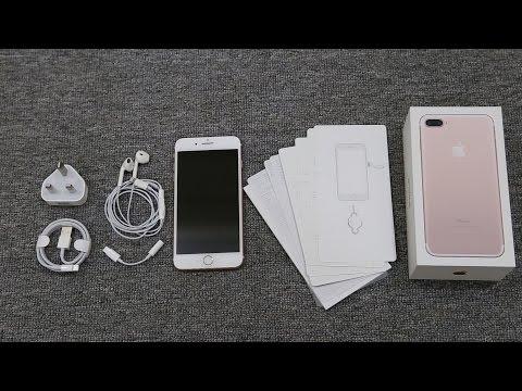 Mở hộp và trên tay iPhone7 Plus Rose Gold bản thương mại