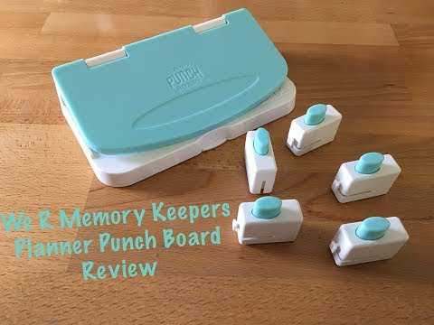 We R Memory Keepers Planner Punch Board Review