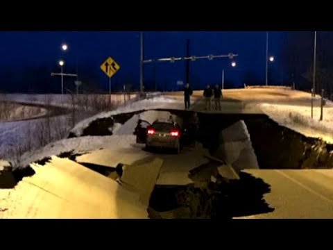 Powerful earthquake hits near Anchorage, Alaska
