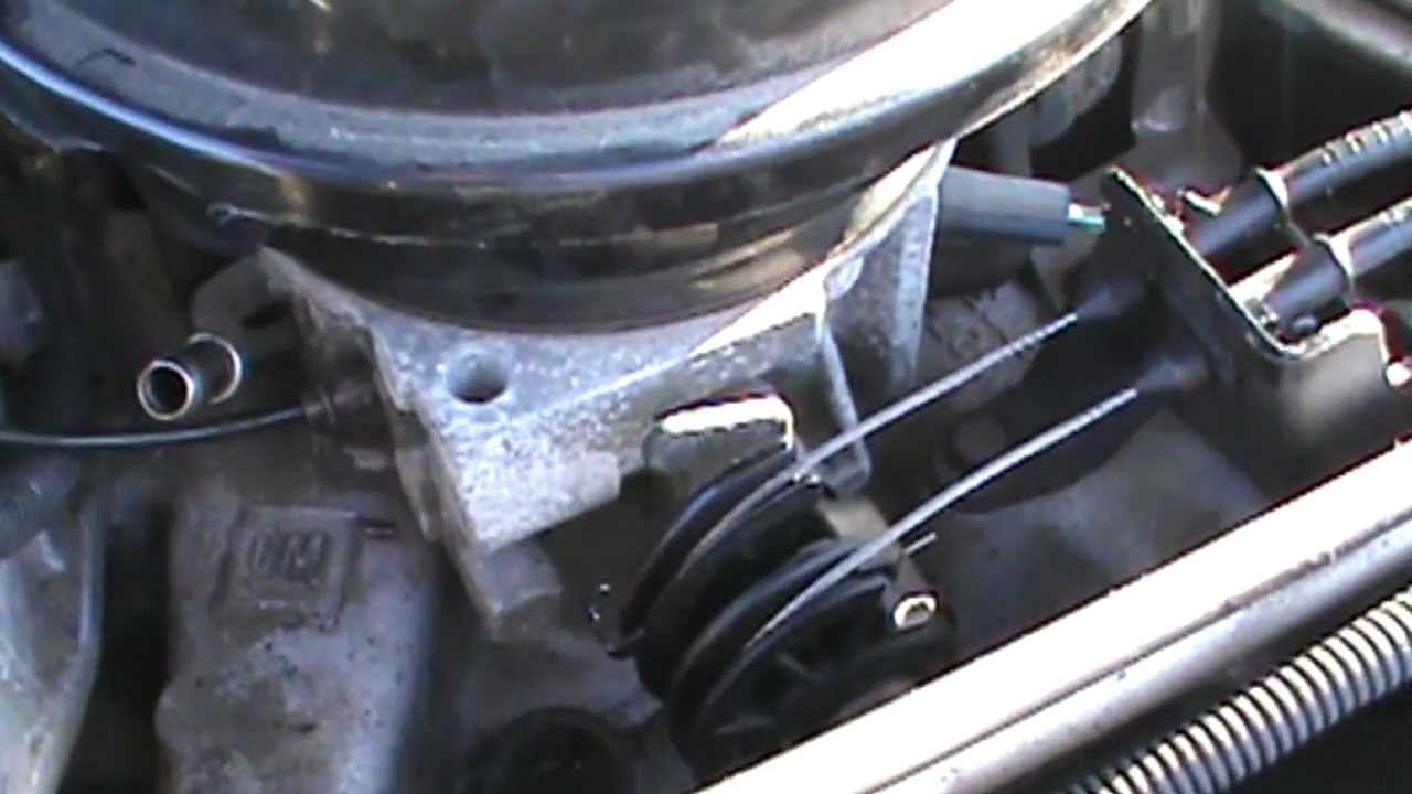 adjusting idle speed on a cadillac deville