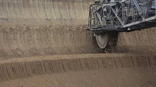 Giant machines. The work  bucket wheel excavator