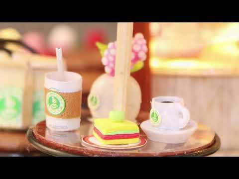 Miniature crafts DIY miniature house diy wood puzzle house miniature diy kit