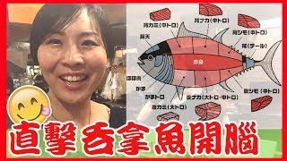 【東京美食 VLOG】  直擊吞拿魚開腦過程 享用4大吞拿魚頭稀有部分 新宿歌舞伎町日日吞拿魚解體show 餐廳