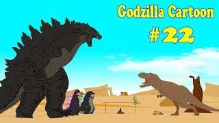 Godzilla vs Shin Godzilla: Funny Dinosaurs #22   Dinosaurs Cartoon
