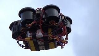 Electric Jet Multicopter I6 EDF - 2nd flight, Crash - 3.5kg hexa, WKM