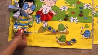 Развивающая книжка для ребёнка своими руками. Как изготовить.