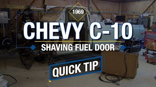 QUICK TIP! One Important Detail When Shaving Gas Filler Neck on Classic Truck Restoration - Eastwood