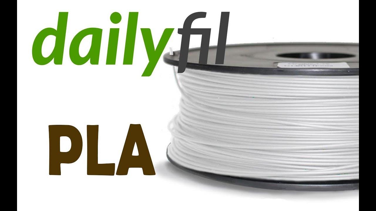test filament pla dailyfil youtube. Black Bedroom Furniture Sets. Home Design Ideas