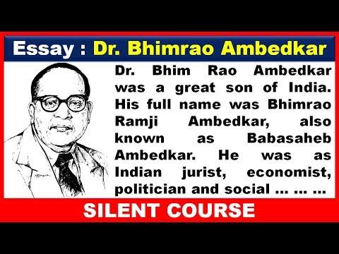 Essay On Dr  Bhim Rao Ambedkar In English