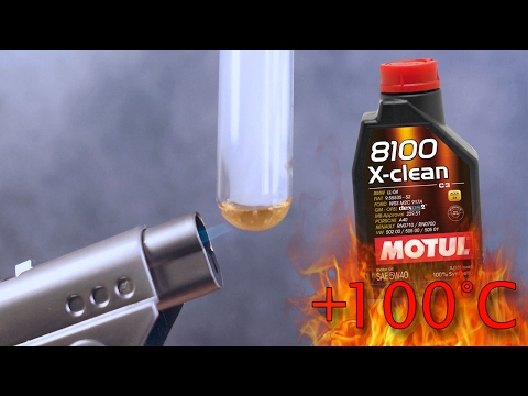 Motul 8100 X-Clean C3 5W40 How clean is the engine oil? Test above 100°C