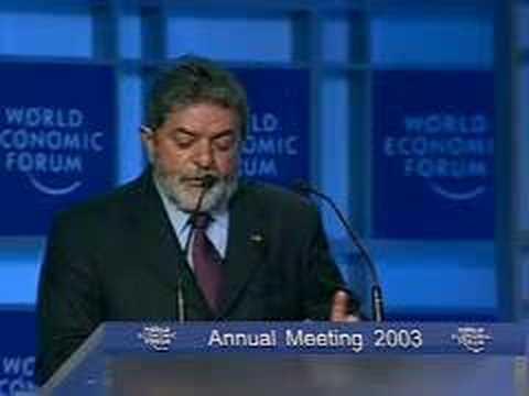 Davos Annual Meeting 2003 - Luiz Inacio Lula da Silva