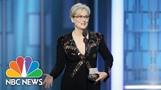 Meryl Streep, Jimmy Fallon, Hugh Laurie Get Political At Golden Globes | NBC News