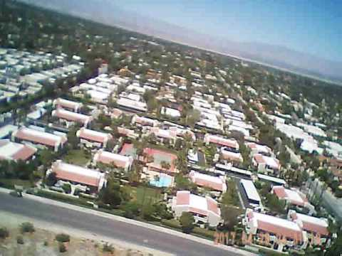 Views above Palm Springs filmed by Jeff Stover R/C airplane fitted with video camera.