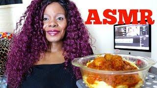 Best Spaghetti DinnerASMR Eating Sound   Veggie Meat Balls ð...