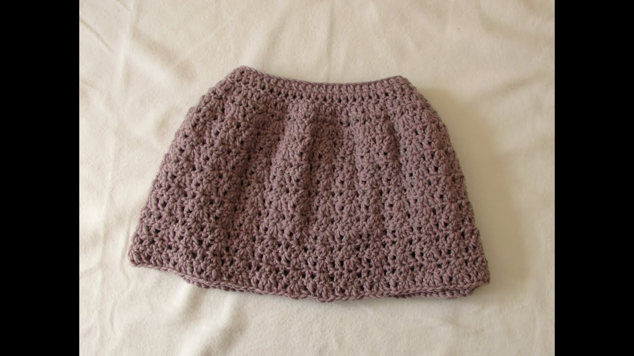 VERY EASY pretty crochet skirt tutorial - all sizes (baby to adult ...