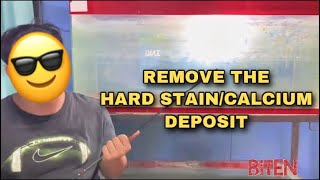 How to Remove Hard Water Stains in Aquarium using Baking Soda and Coke Method