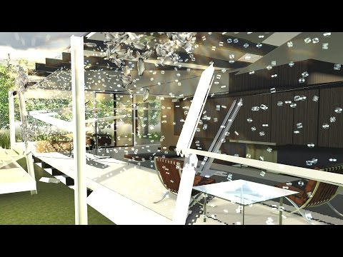 Demolition 3D: Farnsworth House with Exploding Toilet!