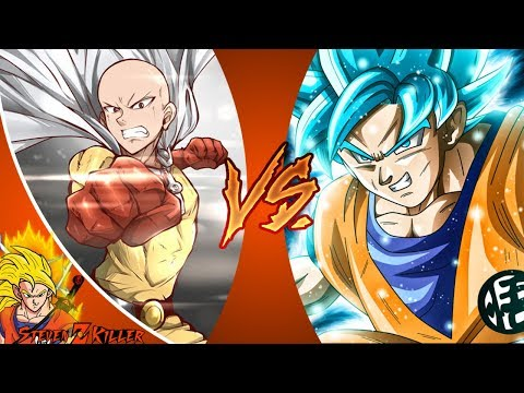 Saitama VS Goku  (By Fienamation) Part 1 & 2 REACTION!!!