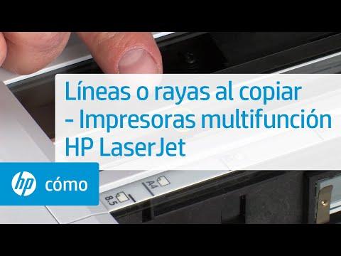 Líneas o rayas al copiar -- Impresoras multifunción HP LaserJet | HP Printers | HP