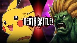 Pikachu VS Blanka (Pokémon VS Street Fighter) | DEATH BATTLE!