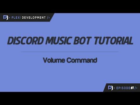 Music Bot Tutorial: Volume Command [ep  7] - YouTube