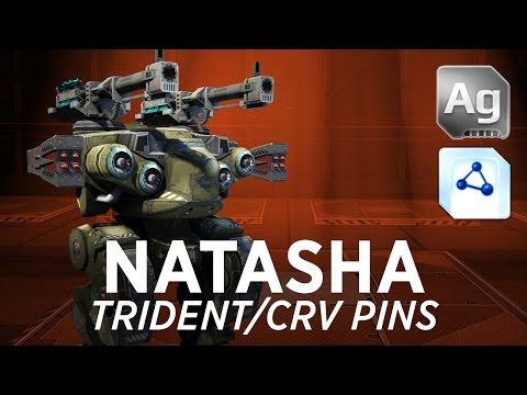 Natasha Trident/CRV Pins - War Robots - Gameplay (Springfield)