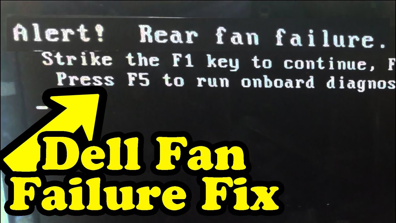 Dell Fan Failure Fix Bypass How To