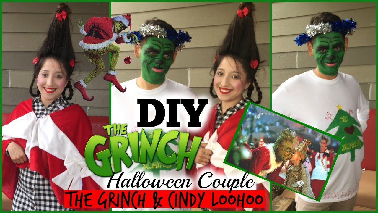 Diy Couple Halloween Costume The Grinch And Cindy Loowhoo Youtube