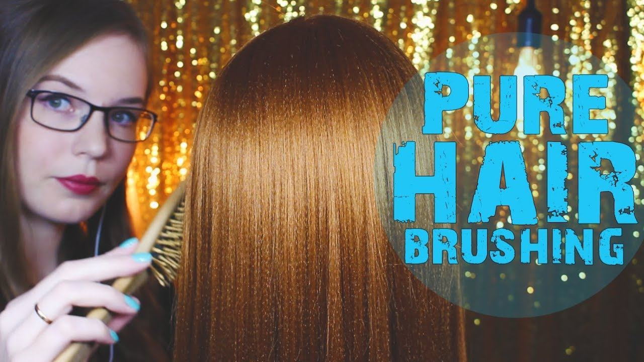 Asmr No Talking hair play and brushing, golden edition 💤 dummyhead colette