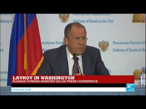 US - Russian Foreign minister Sergey Lavrov addresses the press in Washington