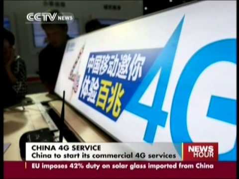 China to start commercial 4G services by year end