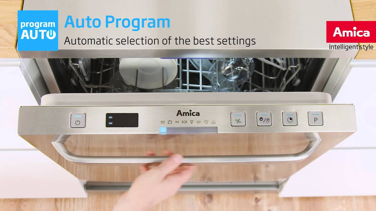 Amica Dishwashers Effect Supported By Technology Youtube