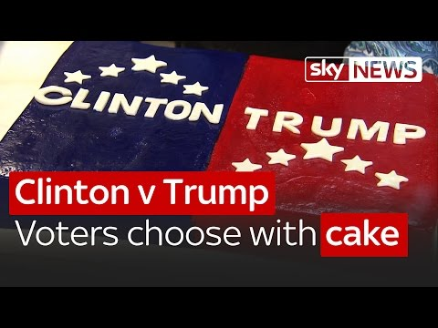 Clinton v Trump: American voters choose with cake