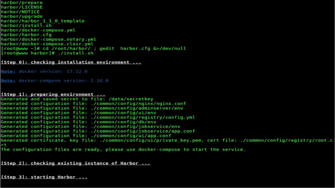How To Setup Harbor on CentOS Linux 7 4