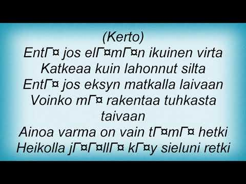 Indica - Ikuinen Virta Lyrics