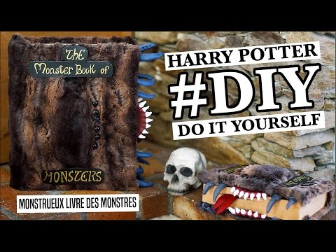 Diy L Monster Book Of Monsters Harry Potter Youtube