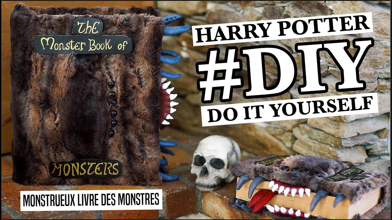 Diy L Monster Book Of Monsters Harry Potter