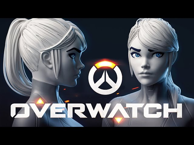 Overwatch Style Character - Making the Hair
