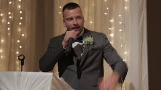 Brother of the bride tastefully roasts the groom (and the bride...)