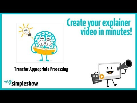 Transfer Appropriate Processing - mysimpleshow