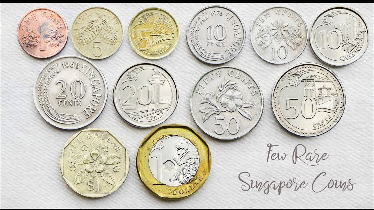 Download Few Rare Singapore Coins Collection ( Cents & Dollar ) - Complete Set | Singapore ( Singapura )