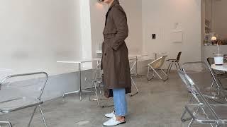 레인 트렌치 코트