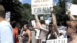 Protesting Susan Collins on 8-25-09